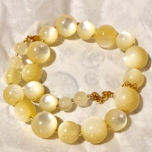 Jewelry - Joan Rivers Lit From Within Yellow Beads Necklace